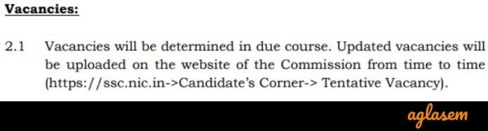 SSC MTS 2019 Vacancy notice