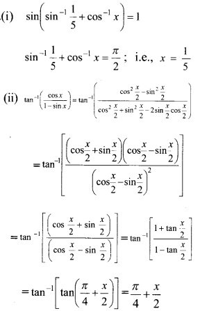 Plus Two Maths Chapter Wise Previous Questions Chapter 2 Inverse Trigonometric Functions 10