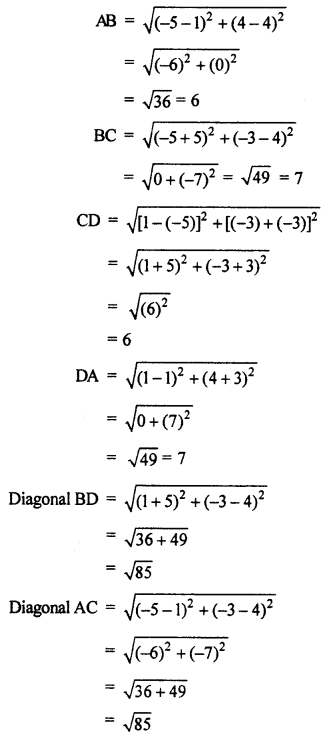 RBSE Solutions for Class 10 Maths Chapter 9 Co-ordinate Geometry Q.11.2