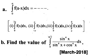 Plus Two Maths Chapter Wise Previous Questions Chapter 7 Integrals