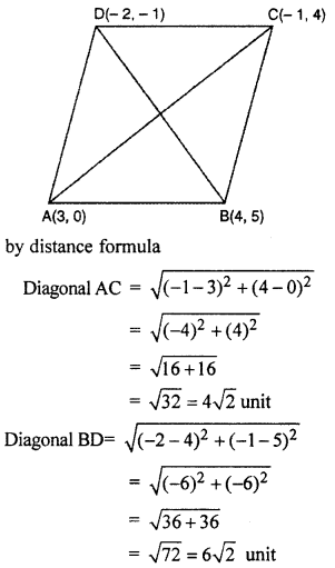 RBSE Solutions for Class 10 Maths Chapter 9 Co-ordinate Geometry 4Q.15