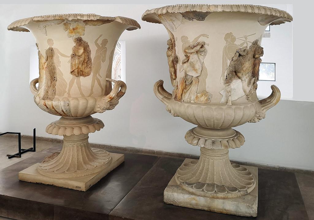 cráteras de marmol del naufragio de Mahdia Museo Nacional del Bardo Tunez 01