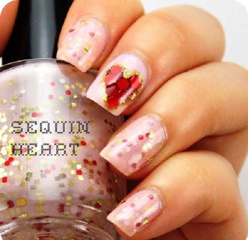 Sequin Nails Designs