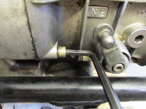 Remove Transmission Lower Left Bolt