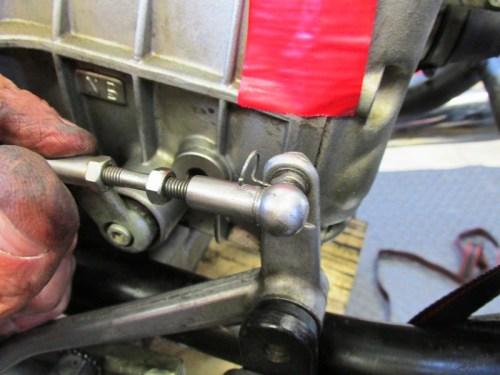 Remove Shift Lever Adjuster Wire Clip