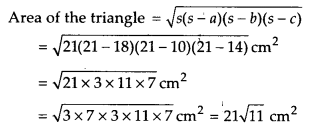 NCERT Solutions for Class 9 Maths Chapter 12 Heron's Formula Ex 12.1 Q4