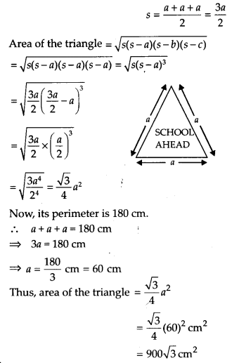 NCERT Solutions for Class 9 Maths Chapter 12 Heron's Formula Ex 12.1 Q1