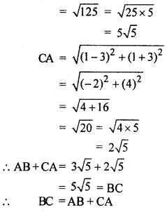 RBSE Solutions for Class 10 Maths Chapter 9 Co-ordinate Geometry Q.10.2