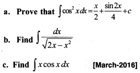 Plus Two Maths Chapter Wise Previous Questions Chapter 7 Integrals 15