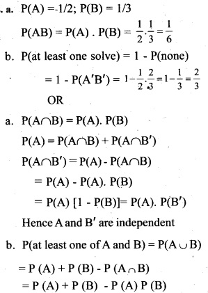 Plus Two Maths Chapter Wise Previous Questions Chapter 13 Probability 12