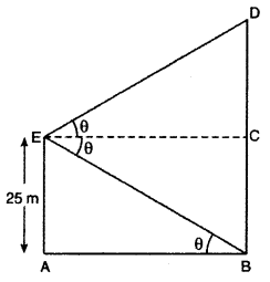 RBSE Solutions for Class 10 Maths Chapter 8 Height and Distance Q.8