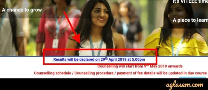 VITEEE 2019 Result Date and Time