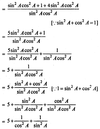 RBSE Solutions for Class 10 Maths Chapter 7 Trigonometric Identities Q.21.2