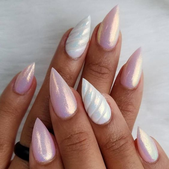 magical unicorn nail art