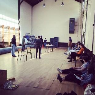 On peaufine l'acte IV de Platonov au gymnase. Première demain à 19h00. #tchekhov #théâtre #atea2019 #ecolealsacienne