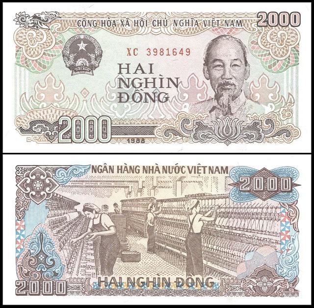 Viet Nam - PN# 107a, 1988; 2000 Dong