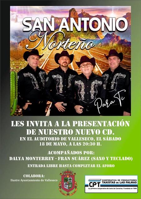 Valleseco acoge la presentación del nuevo disco de San Antonio Norteño