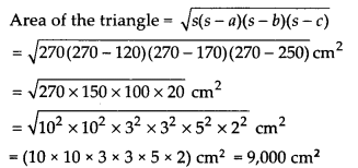 NCERT Solutions for Class 9 Maths Chapter 12 Heron's Formula Ex 12.1 Q5