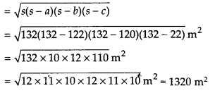 NCERT Solutions for Class 9 Maths Chapter 12 Heron's Formula Ex 12.1 Q2a