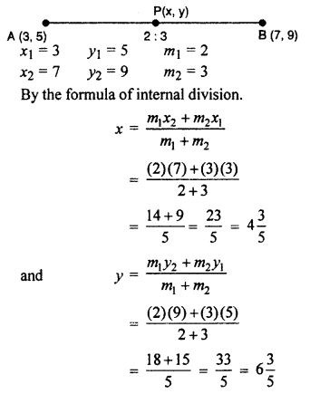 RBSE Solutions for Class 10 Maths Chapter 9 Co-ordinate Geometry Q.1