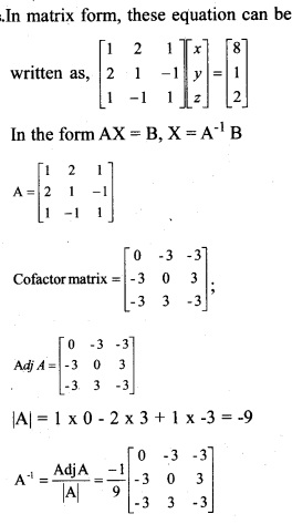 Plus Two Maths Chapter Wise Previous Questions Chapter 4 Determinants 9