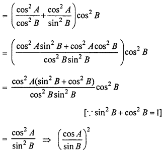 RBSE Solutions for Class 10 Maths Chapter 7 Trigonometric Identities Q.30