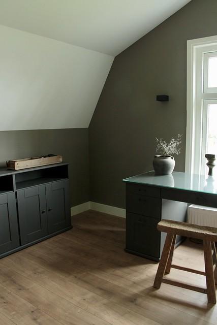 Werkkamer thuis landelijke stijl