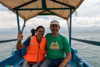 Het water uit de rivier komt vanuit Lake Kivu tussen Rwanda en Congo Kinshasa.