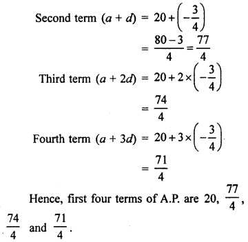 RBSE Solutions for Class 10 Maths Chapter 5 Arithmetic Progression Q.2.2