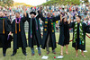 """The University of Hawaii at Manoa William S. Richardson School of Law celebrated at the school's graduation ceremony on May 12, 2019. Graduates join hands to sing 'Hawaii Aloha' and celebrate after the law school ceremony Sunday. (Photo credit: Mike Orbito) For more photos go to: <a href=""""https://www.flickr.com/photos/37424325@N08/sets/72157691433495983/"""">www.flickr.com/photos/37424325@N08/sets/72157691433495983/</a>"""