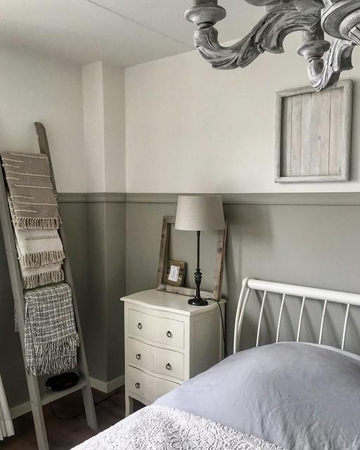 Decoratieladder landelijke slaapkamer