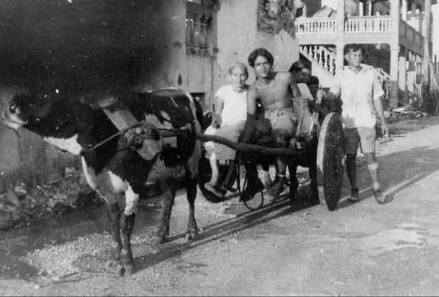 Family on Cart, 1944