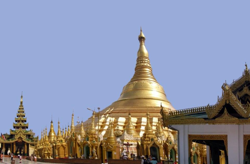 gran estupa de la pagoda Shwedagon dorada Yangon Myanmar Birmania 17