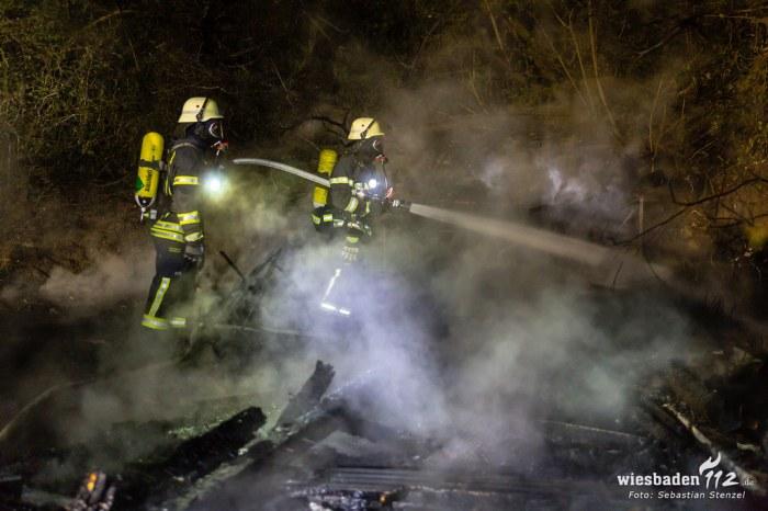 Gartenhüttenbrand Bierstadt 16.04.19