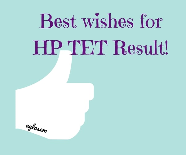 Best wishes for HP TET Result 2019