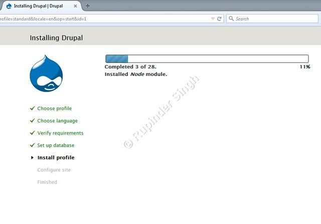 21 Drupal Webinstaller progress Bar