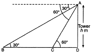 RBSE Solutions for Class 10 Maths Chapter 8 Height and Distance Q.25