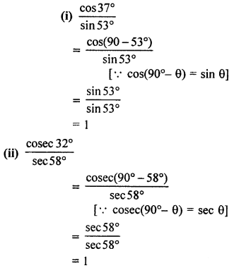 RBSE Solutions for Class 10 Maths Chapter 7 Trigonometric Identities Q.1.2