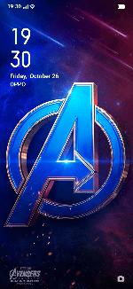 OPPO F11 Avengers Homescreen