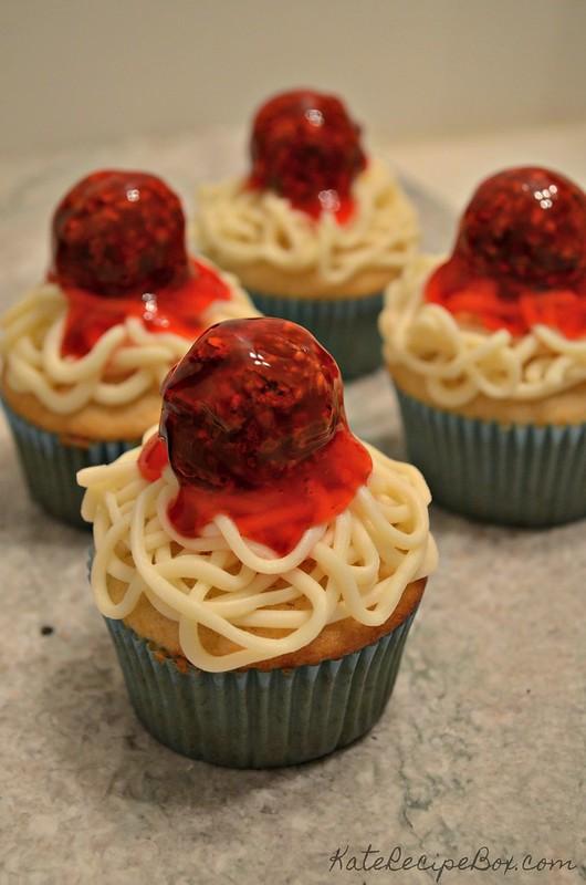 Spaghetti Cupcakes 1