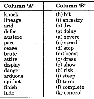 RBSE Class 9 English Grammar Antonyms and Synonyms 19
