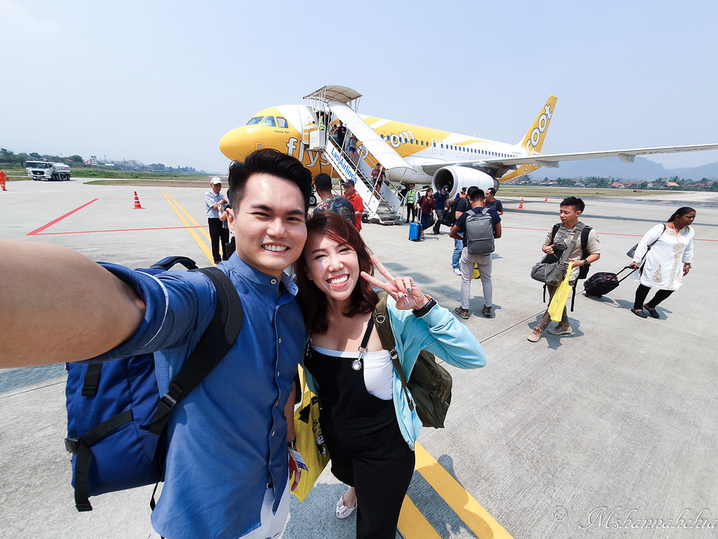 Scoot's inaugural flight to Laos
