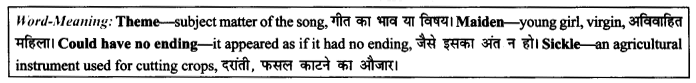 NCERT Solutions for Class 9 English Literature Chapter 8 The Solitary Reaper 9