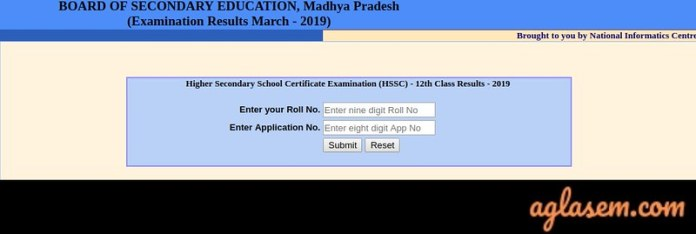 MP 12th Roll Number Wise Result 2019