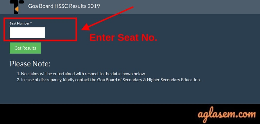 Goa HSSC Result 2019 Roll Number Wise