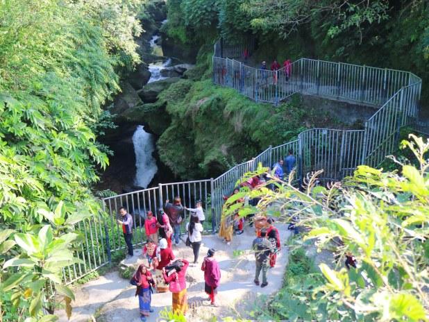 Las cataratas de Pokhara