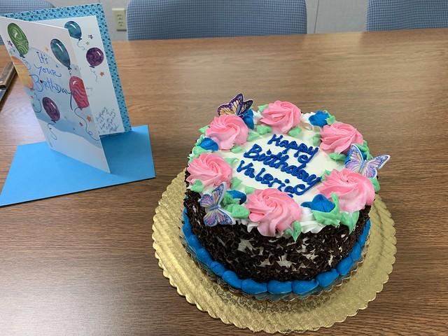 bday cake at work
