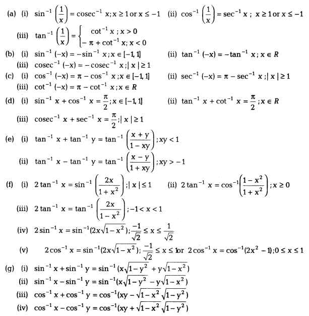 Inverse Trigonometric Functions Class 12 Notes Maths Chapter 2 2