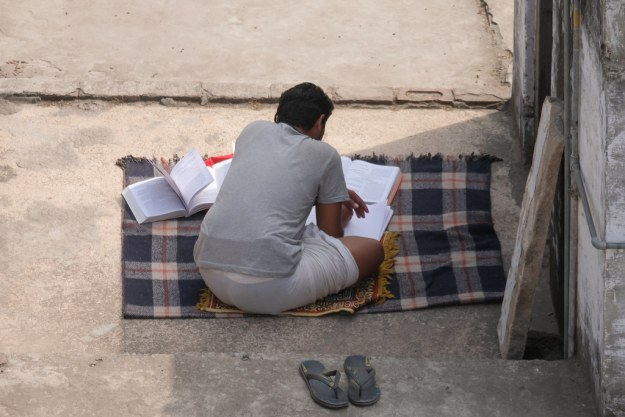 Kid Learning on Roof