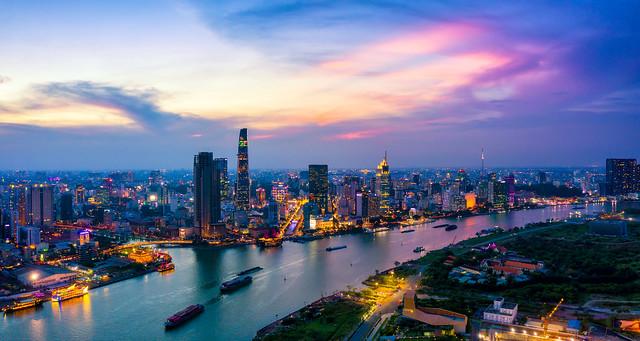 Aerial view of Ho Chi Minh City skyline